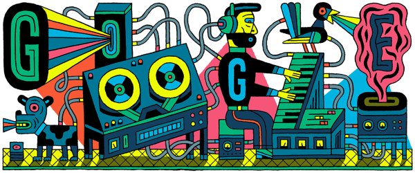 Studio for Electronic Music in Germany - Google Doodle