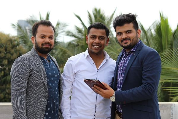 Boxnbiz Founders - Ricky Goyal (Left), Biplob Barik (Center) and Product Lead - Sunil Gauswami (Right)